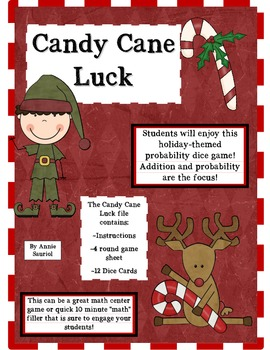 Candy Cane Luck: A Probability Math Dice Game!