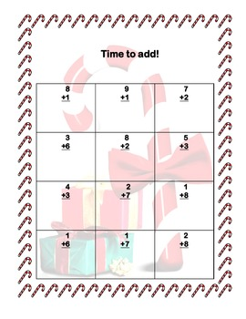 Candy Cane Math Addition & Subtraction Within 20 Worksheets