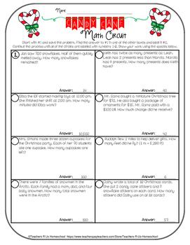 Candy Cane Math Circuit (3rd - 5th)
