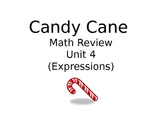Candy Cane Math Review Unit 4 Expressions