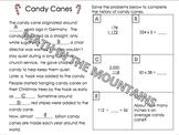 Candy Cane Math Worksheet