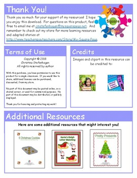 Candy Cane Number Cards