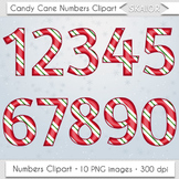 Candy Cane Numbers Clipart Christmas Numbers