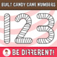 Built Candy Cane Numbers Clipart