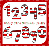 Candy Cane Numbers Clipart / Numbers Clipart / Math Number