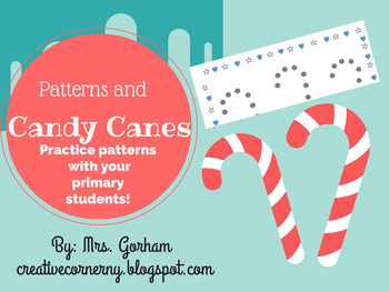 Candy Cane Pattern Practice and Cards