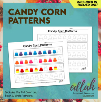 Candy Corn Patterning Sheet