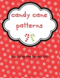 Candy Cane Patterns File Folder Game