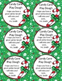 Candy Cane Play Dough Tags