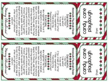 Candy Cane Playdough Labels