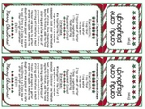 Candy Cane Playdough Labels