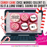 Candy Cane Practice CVCE words (silent e). Is it a long vo