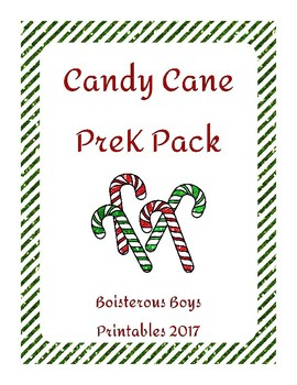 Candy Cane PreK Printable Learning Pack