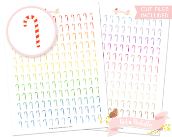 Candy Cane Printable Planner Stickers