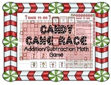 Candy Cane MATH Race! Christmas/Holiday themed addition-subtraction board game