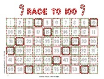 Candy Cane LANGUAGE Race - Christmas/Holiday themed Speech Therapy board game