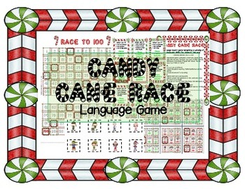 Candy Cane LANGUAGE Race - Christmas/Holiday themed Speech