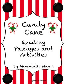 Candy Cane Reading Passages and Activities with Bible Verses for Christmas