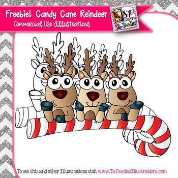 Candy Cane Reindeer FREEBIE