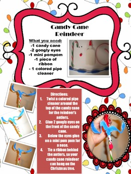 Candy Cane Reindeer Holiday Craft