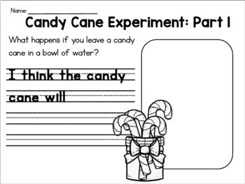 Candy Cane Science   Float & Sink, 5 Senses, Experiment and Graphing!