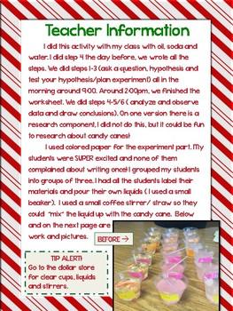 Candy Cane Experiment Scientific Method