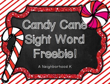 Candy Cane Sight Word Freebie