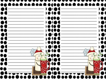 Candy Cane S'Mores Notepads