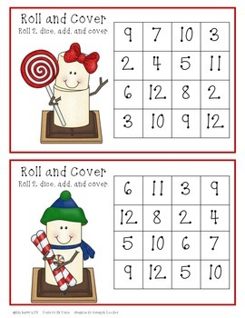 Roll and Cover - Candy Cane S'mores