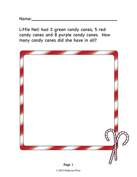 Christmas Candy Cane Story Problems