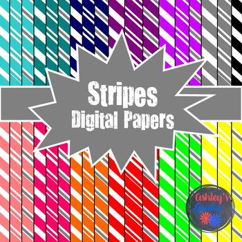 Candy Cane Stripes Digital Papers