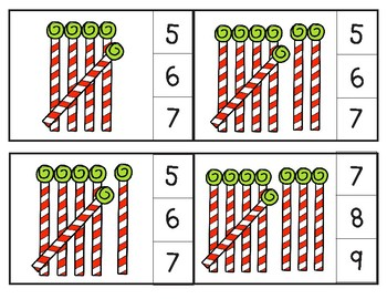 Candy Cane Tallies through 20 Clip Cards