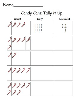 Candy Cane Tally it Up/Numerals