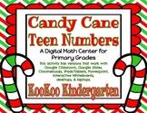 Candy Cane Teen Numbers- A Digital Math Cener