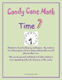 Candy Cane Telling Time Game