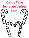Candy Cane Templates Christmas Candy Cane Coloring Page Candy Cane Outline