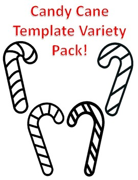 Candy Cane Templates Christmas Candy Cane Coloring Page ...