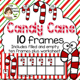 Candy Cane Ten Frames (includes worksheet)