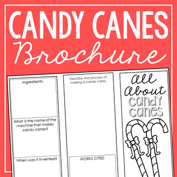 Candy Cane - The History of Christmas Research Project Interactive Notebook