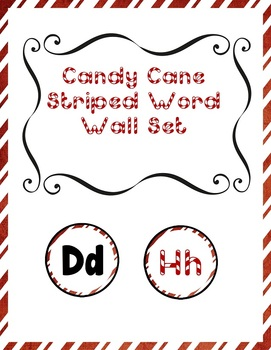 Candy Cane Theme Word Wall Set