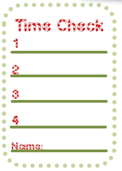 Candy Cane Time Check Printable! {FREEBIE}