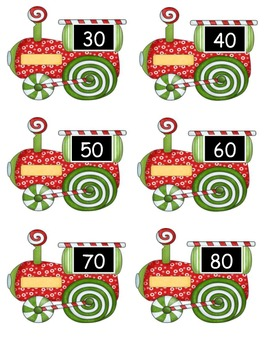 Candy Cane Train Number Order Activities