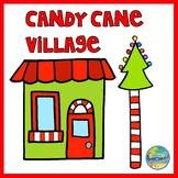 Candy Cane Village File Folder Game