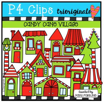 Candy Cane Village (P4 Clips Trioriginals)