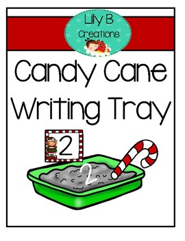 Candy Cane Writing Tray - Elf Theme