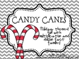 Candy Canes - A Multiplication and Division Fact Family Game