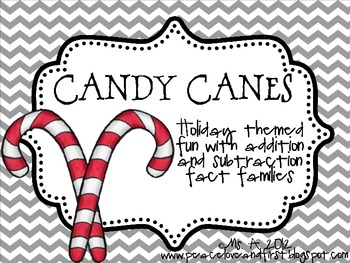 Candy Canes - An Addition and Subtraction Fact Family Game