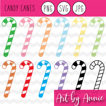 Candy Canes Christmas Clip Art, JPG, PNG, SVG