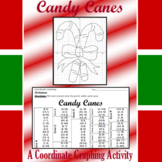 Christmas - Candy Canes - A Coordinate Graphing Activity