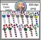 Candy Canes Galore Clipart
